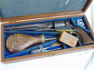 Navy Colt in case, Samuel Colt Navy .44 caliber Navy