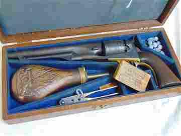 Navy Colt in case, Samuel Colt Navy .44 caliber Navy