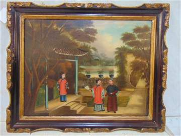 Chinese export painting, late 18th Century, early 19th