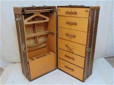 Louis Vuitton wardrobe steamer trunk, vintage Louis