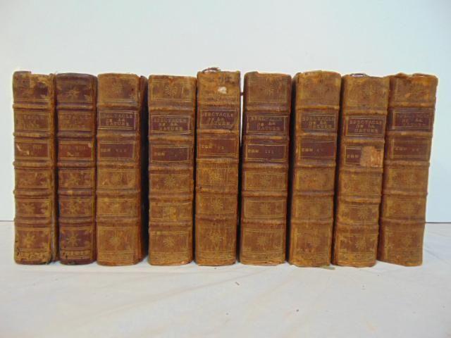 """Book set, """"Le Spectacle de La Nature, ou Entretiens sur"""