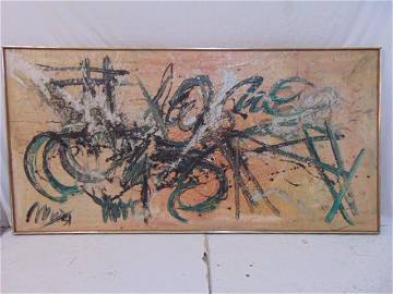"""Painting, """"Continuity of change"""", signed Michelle Lee,"""