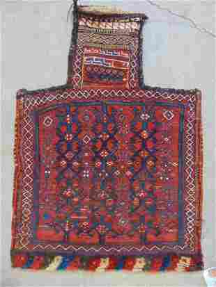 """Persian camel bag, in red, 24"""" by 32"""""""