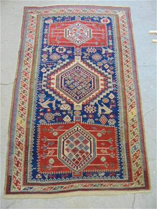 """Shirvany Marziali carpet, in red & blue, rug is 6'5"""" by"""