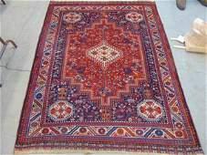 Caucasian carpet in red orange  blue 67 by 51