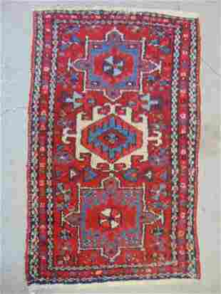 """Small red scatter rug, 36"""" by 22"""""""