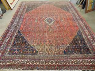 Room Size Persian carpet, in red, center medallion,