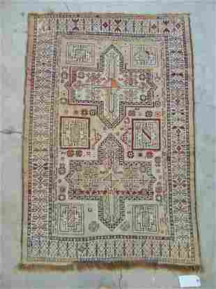 """Persian scatter rug, light grey, 59"""" by 40.5"""", rug has"""