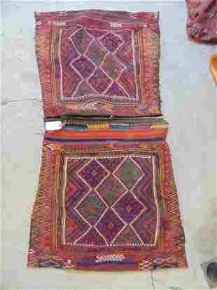 "Kilim saddle bag, various colors, Afghanistan, 70"" by"