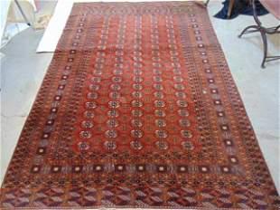 Indian wool Bokhara carpet, in red / brown, carpet is
