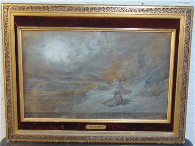 """Painting, """"The Transfiguration"""" Gustave Dore, pencil,"""
