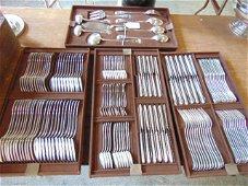 Large set sterling silver flatware, Fouquet-Lapar, 264
