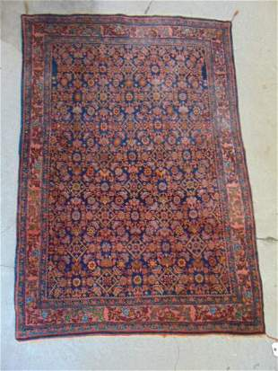 """Scatter rug, in red, 64"""" by 45""""."""