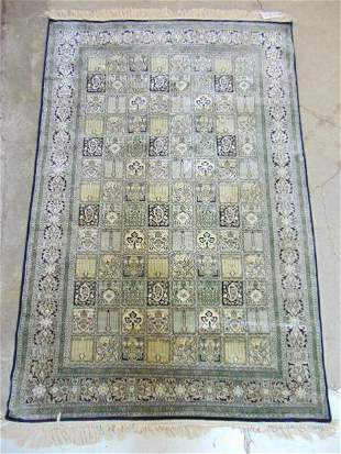 """Silk scatter rug, in light blue / grey, 70"""" by 47.5"""""""