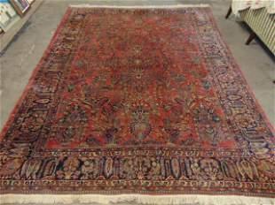Roomsize sarouk, good pile, carpet is 11