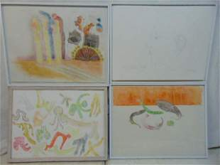 4 paintings Polly Doyle Cavorting Just what is it