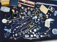 Jewelry Lot of sterling 14k white gold Victorian