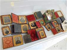 Large collection of daguerreotype  tintype