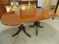 Schmieg & Kotzian double pedestal table, inlaid