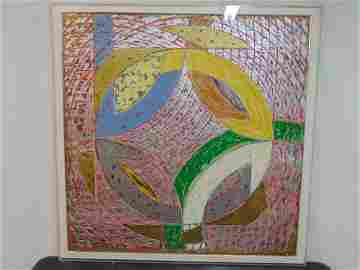 Screen-print, litho, Frank Stella Polar Co-ordinates