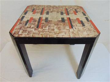 Rare Jean Dunand table, French Art Deco low table,