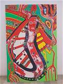 Painting, Louise Abrams, Outsider Art Collection,