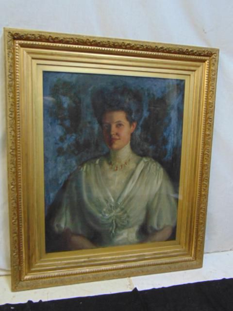 Painting, portrait lady, unsigned, painted on canvas,