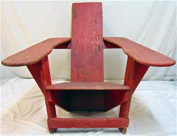 Westport chair, in red paint, armchair, Thomas Lee,