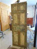 Solid steel vault door, raised panel, early 19th