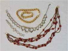 Jewelry. Vintage designer costume jewelry & 800 watch.