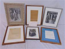 Eleanor & Franklin Roosevelt lot, photos, letters, also
