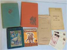 "Book lot, WW2 subject, ""Guadalcanal Diary"", German post"