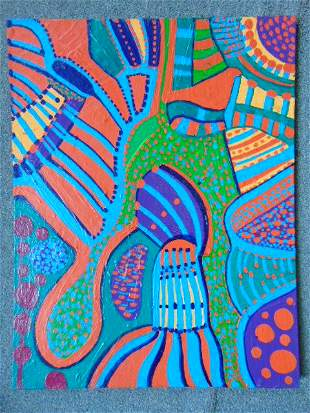 Painting, Louise Abrams, Outsider Art Collection, oil