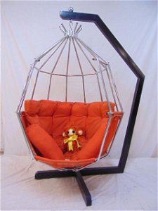 Ib Arberg Swedish Parrot chair, Mid Century, cage seat
