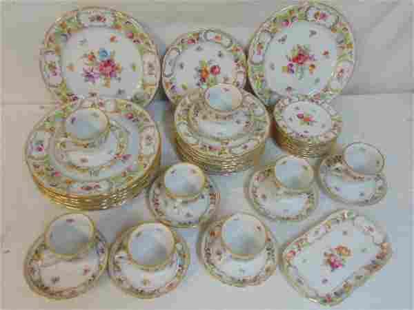 Set porcelain dinnerware, Oscar de la Renta, floral