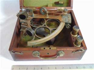 Brass sextant, Warley Pickering, Middlesbrough, in
