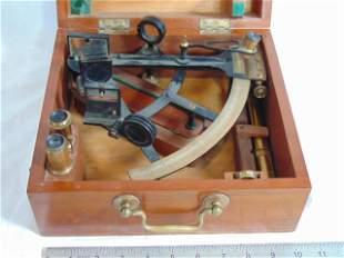 Brass sextant, Wilson & Gillie, Quay North Shields, in