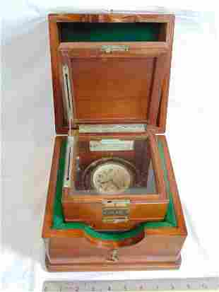 Ships Two Day Deck Chronometer Watch, Double Cased