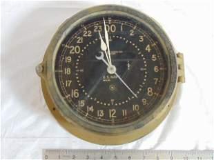 Chelsea US. Navy 24HR Ships Clock, SN 343365, Bakelite