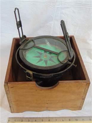 Robert Merrill Dry Card Azimuth Compass, New York,