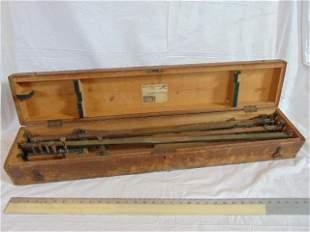 Keuffel & Esser brass pantograph in original case, used