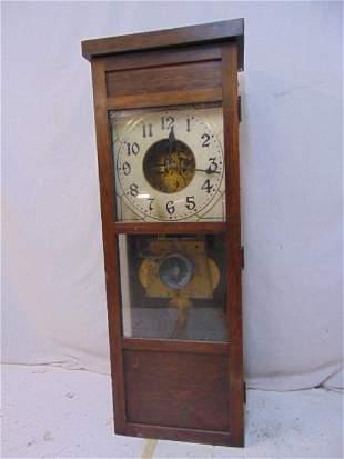 "Seth Thomas, Large Master Clock, 17""w x 46"" T Most"