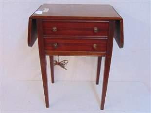 Bendix radio, model 646a, c.1946, wood drop leaf table