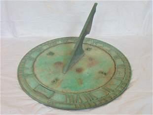 23 inch brass sundial, Lobel Andrews, New York