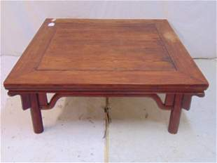 """Chinese coffee table, signed on bottom, table is 40"""" by"""