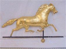 Gilt Full-Bodied Copper Running Horse zinc head