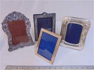Lot (4) Sterling Frames Including London/Keyford,