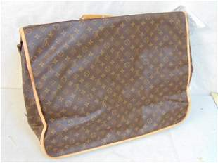 Louis Vuitton folding garment bag, luggage