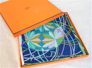 Hermes scarf, in original box, in excellent condition.