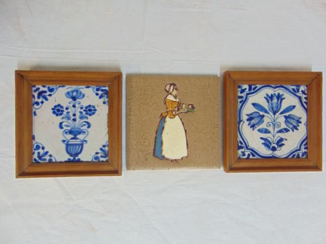 Lot (3) Including Grueby Tile, Colonial Woman, with